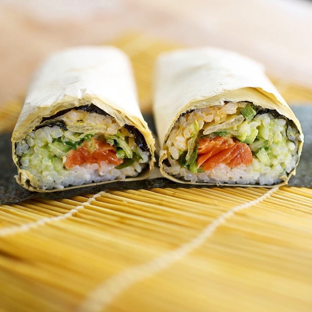 Sushirrito by Diane Kang // Photo: Frank Lieu