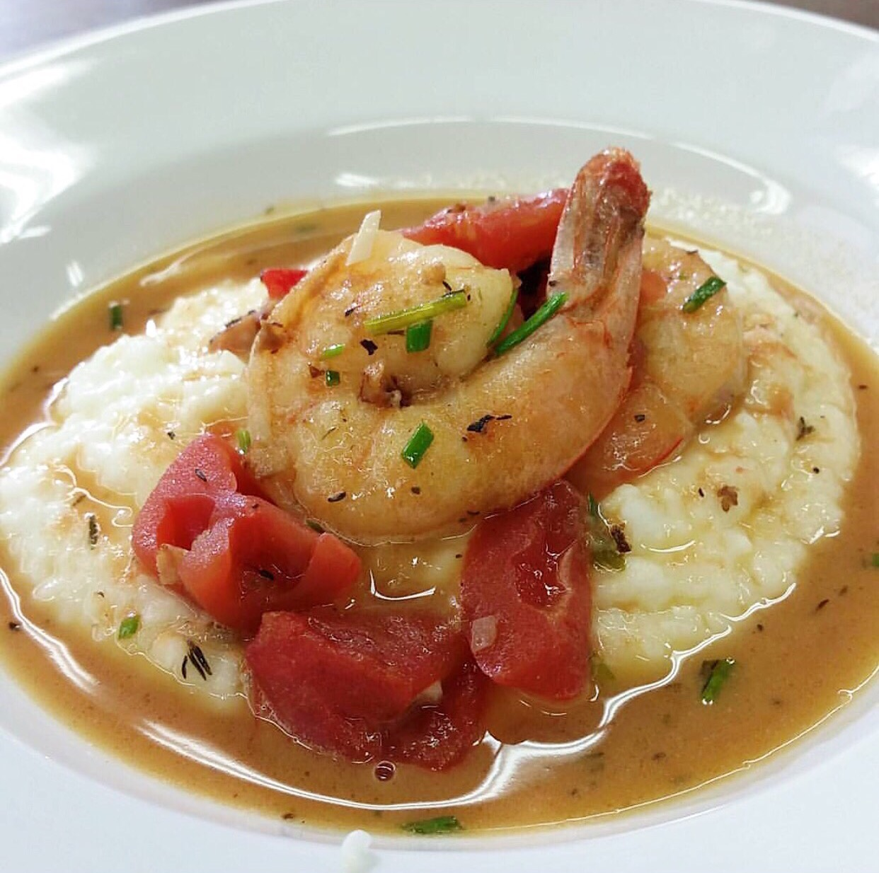 Shrimp and Grits // Photo: @chedcancook