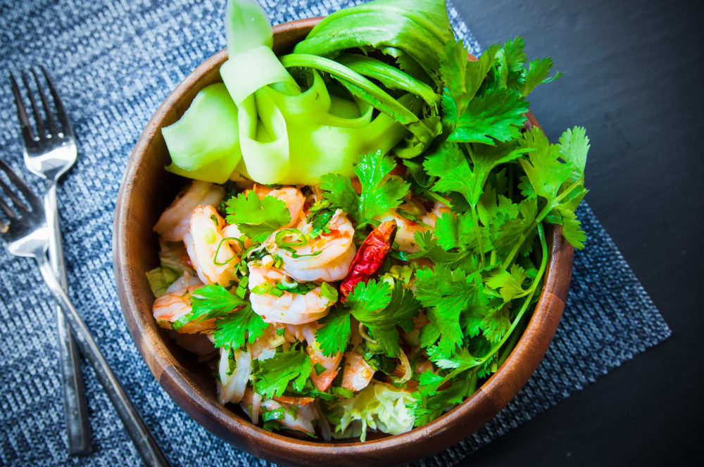 fab recipe thai grilled shrimp salad 4 ways fab food