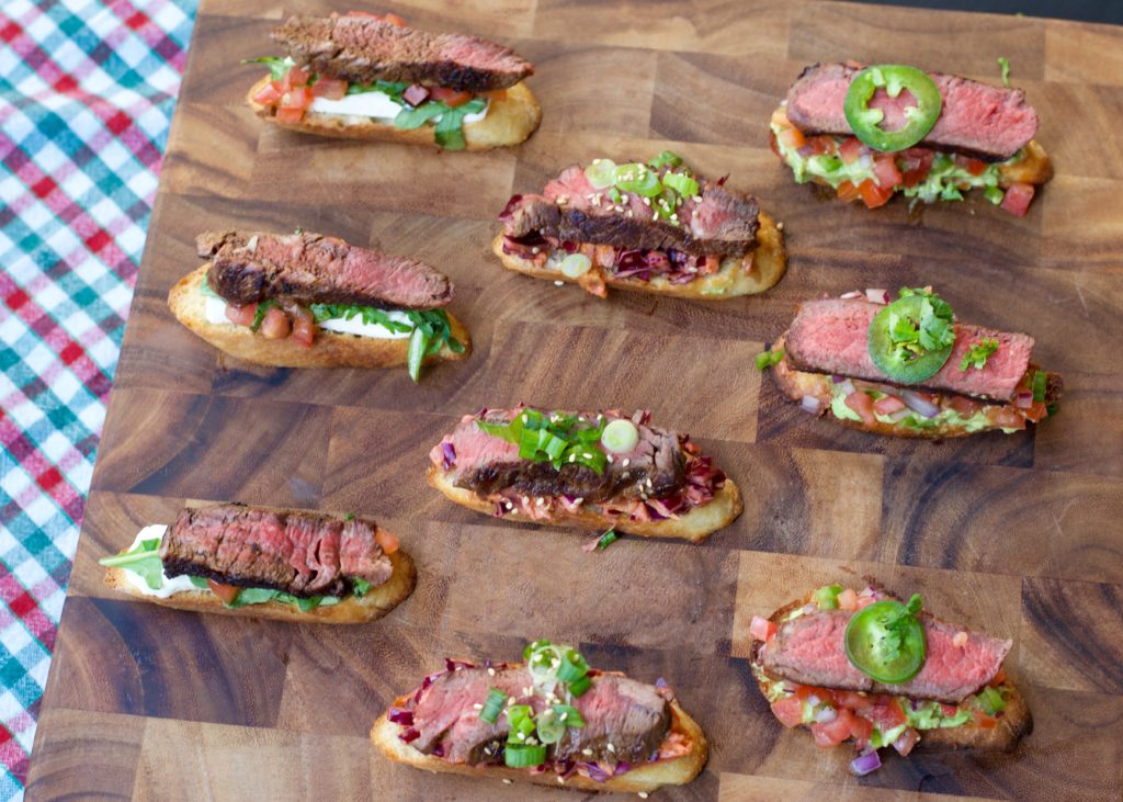 Fab Recipe: PRE Brands Steak Bruschetta 3 Ways // Photo: @fabsoopark