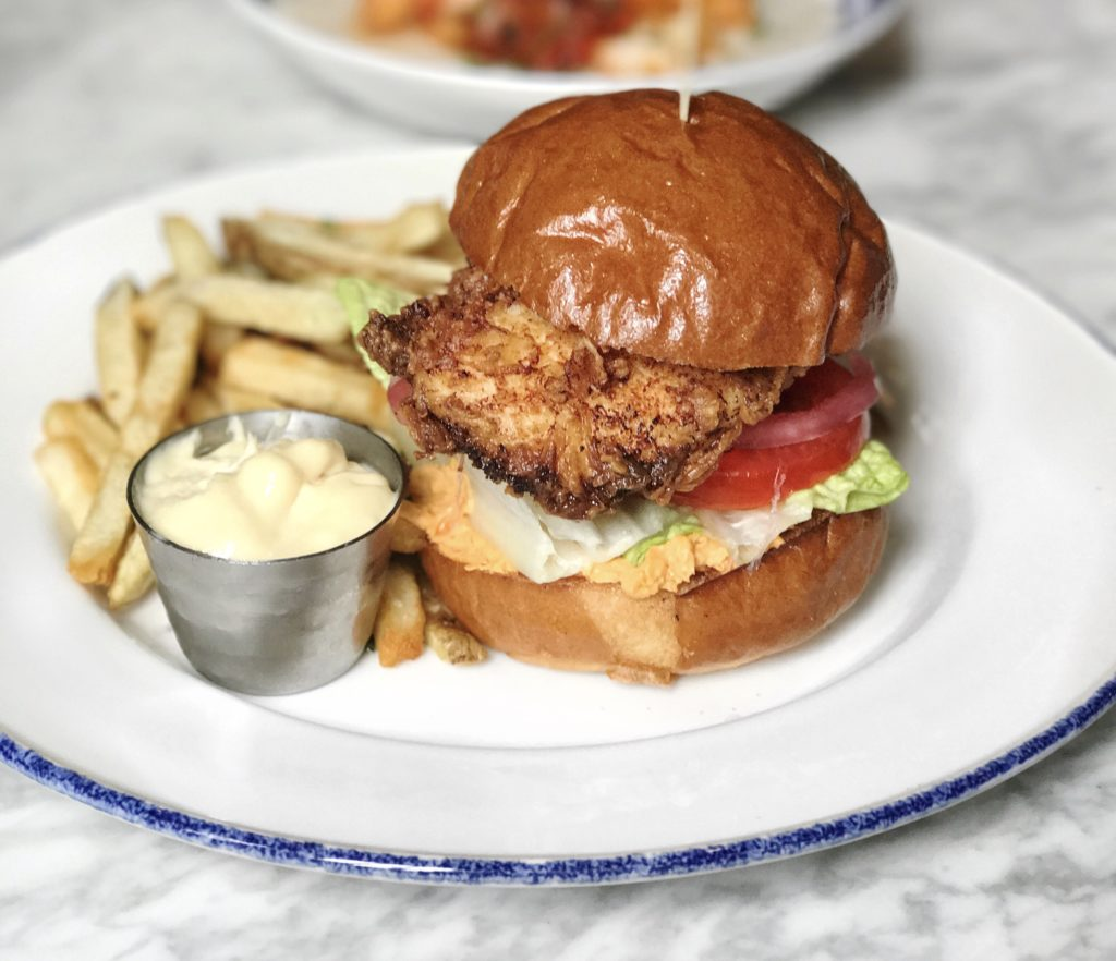 Fried Chicken Sandwich at Blue Door Kitchen & Garden // Photo: @topchicagoeats