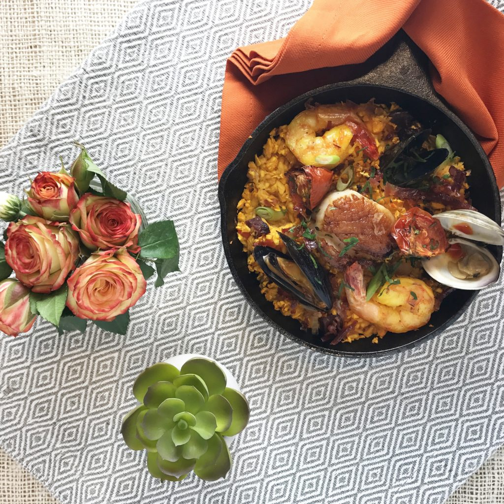 Fab Happenings: Kitchfix // Butternut Seafood Paella // Photo: @fabsoopark