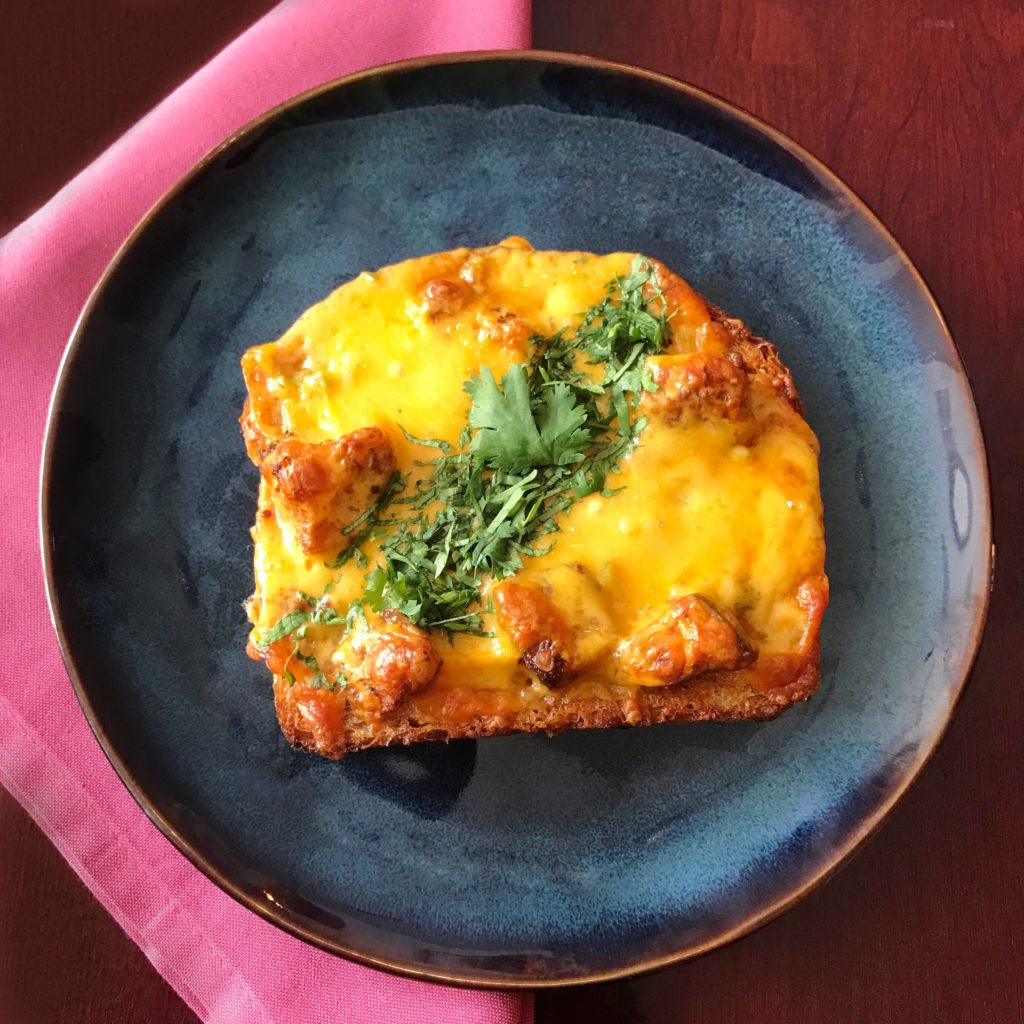 Fab Review: Brunch at Mango Pickle // Chili Cheese Toast // Photo: @topchicagoeats
