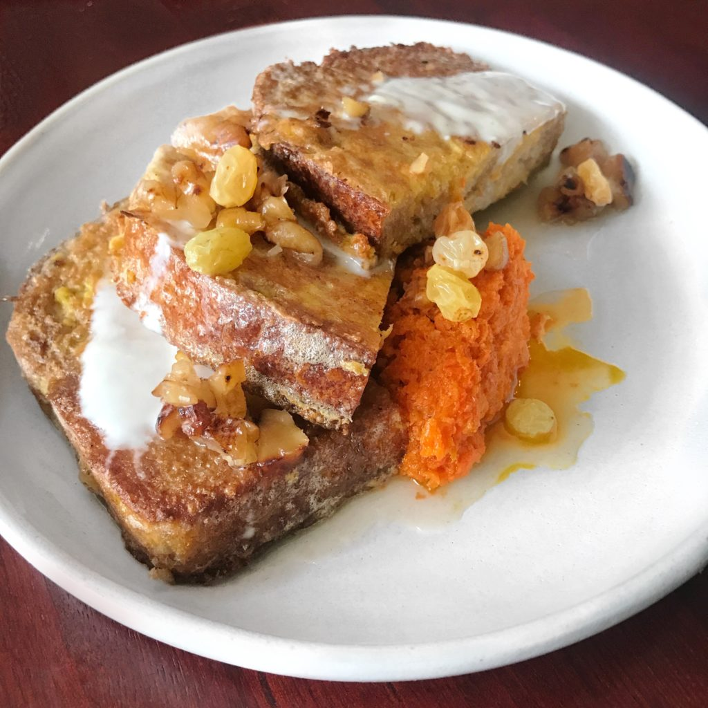 Fab Review: Brunch at Mango Pickle // Carrot Halwa French Toast // Photo: @topchicagoeats