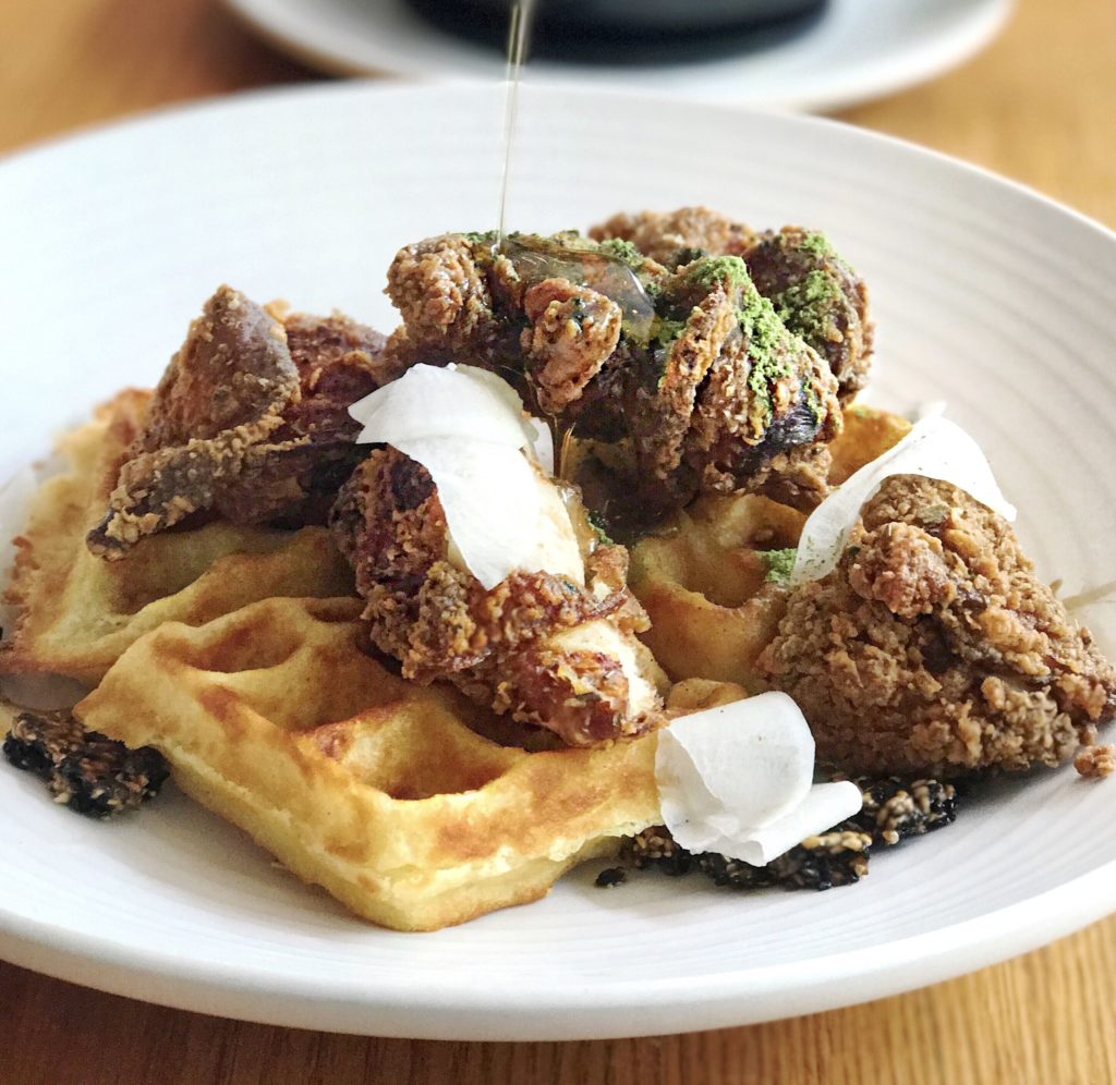 Fab Review: Brunch at Gather // Chicken & Waffles // Photo: @topchicagoeats