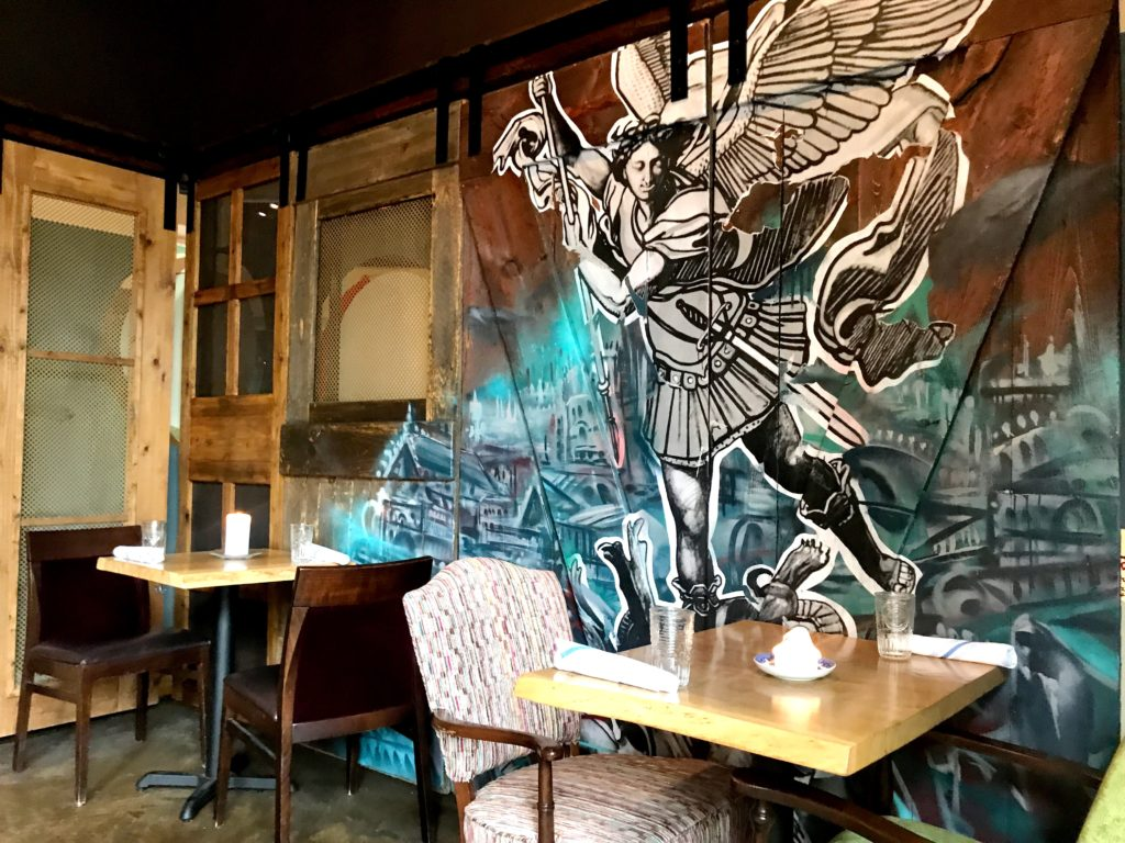 Fab Review: Brunch at Bar Lupo // Mural // Photo: @topchicagoeats