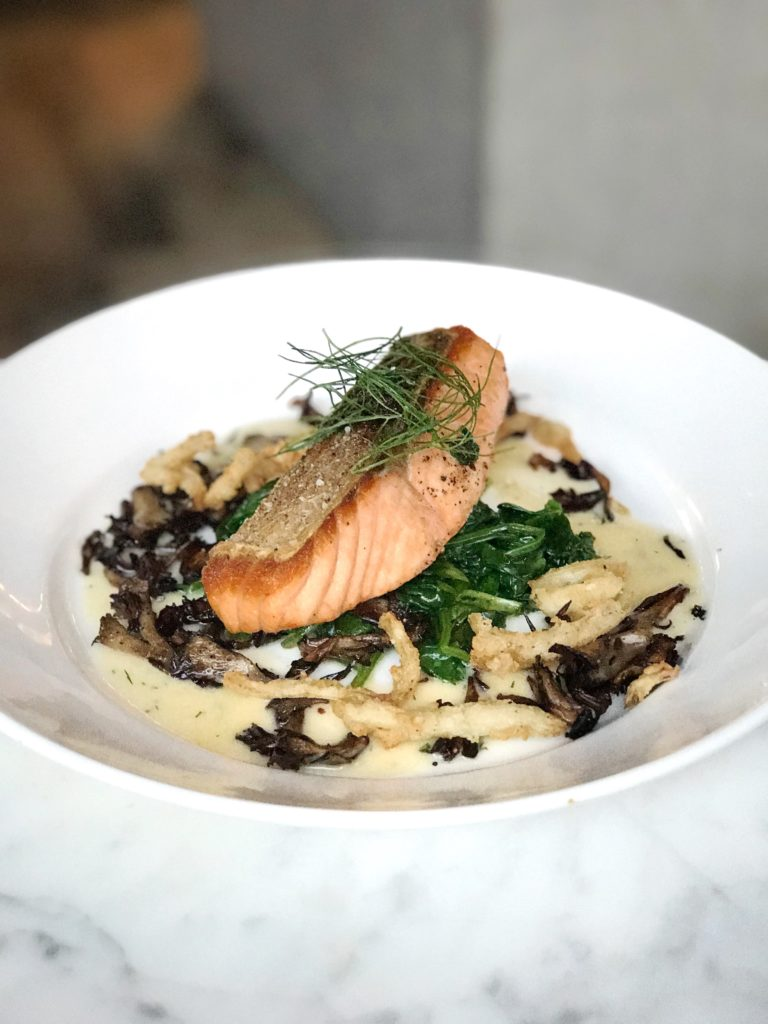 Fab Review: Café Robey // Salmon // Photo: @topchicagoeats