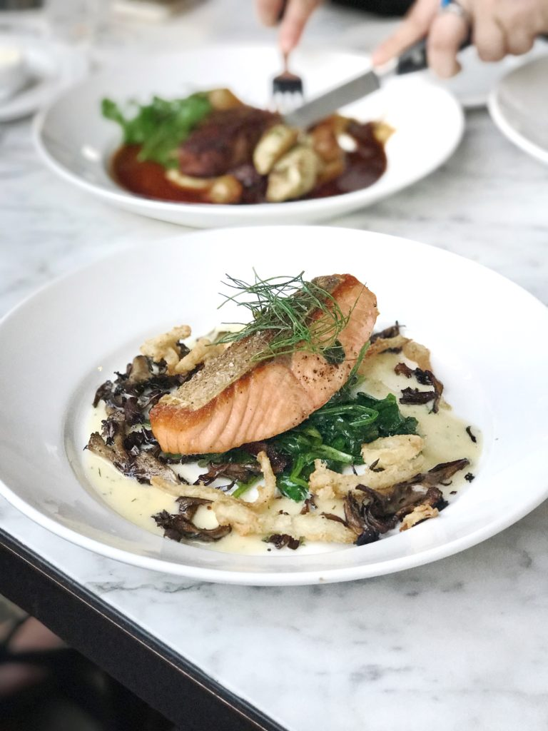 Fab Review: Café Robey // Salmon and Beef // Photo: @topchicagoeats