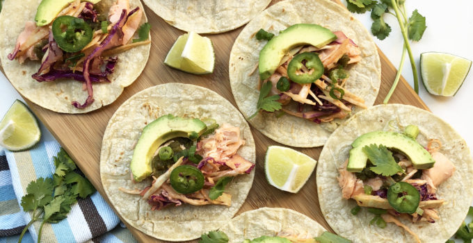 Fab Recipe: Easy Salmon Fish Tacos with Spicy Slaw