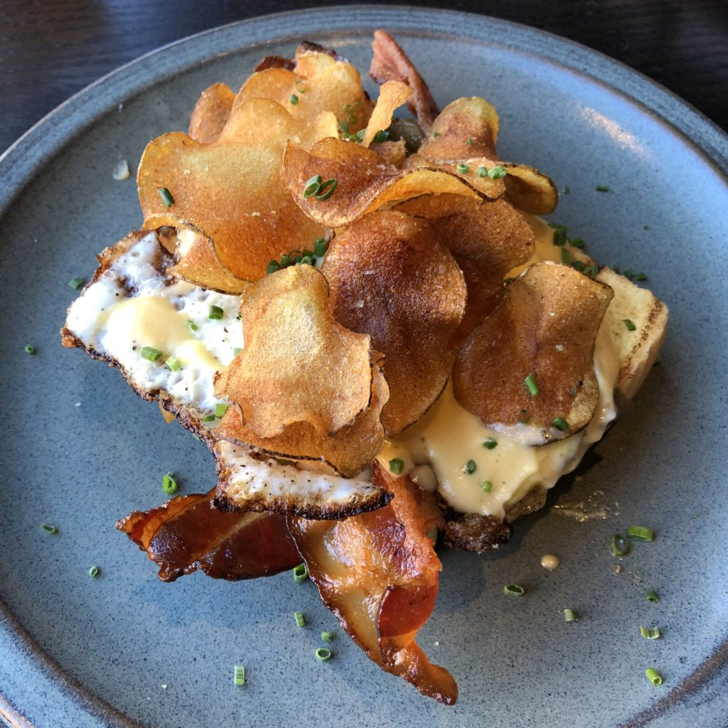 Fab Review: Brunch at Roister // Open-Faced Egg Sandwich // Photo: @topchicagoeats